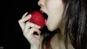 a-beautiful-woman-eating-an-apple-pv