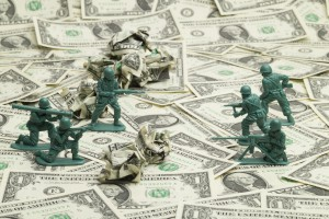 US dollars and troops